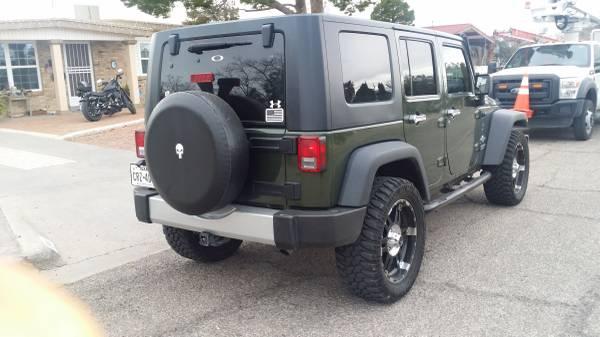 2009 jeep wrangler unlimited x for sale in el paso tx. Black Bedroom Furniture Sets. Home Design Ideas